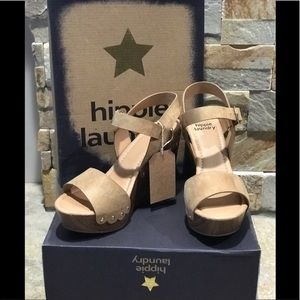 New in Box, Hippie Laundry, tan wedge heels